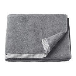 VIKFJÄRD - Bath towel, grey