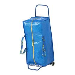 FRAKTA - Trolley with trunk, blue