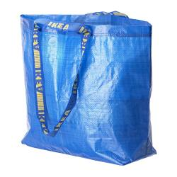 FRAKTA - Carrier bag, medium, blue