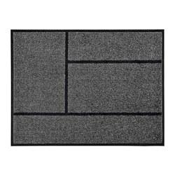 KÖGE - Door mat, grey/black