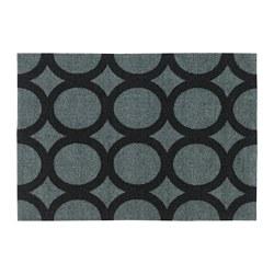 MEJLS - MEJLS, keset pintu, pola lingkaran  abu-abu/hitam, 40x60 cm