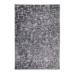 GLUMSÖ - Karpet, anyaman datar, abu-abu tua