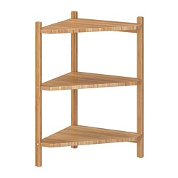 RÅGRUND - Wash-basin/corner shelf, bamboo