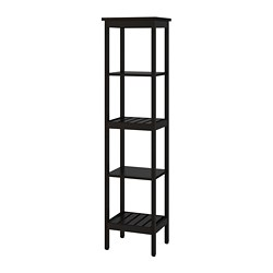 HEMNES - Shelving unit, black-brown stain