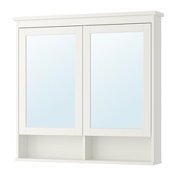 HEMNES - Kabinet cermin 2 pintu, putih