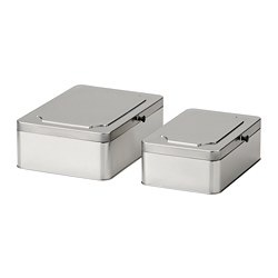 ANILINARE - Box with lid, set of 2, metal