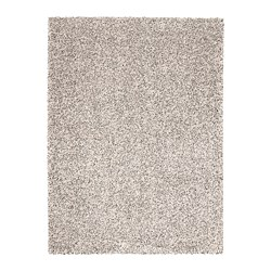 VINDUM - Rug, high pile, white
