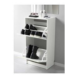 BISSA - Kabinet Sepatu 2 Kompartemen, Putih