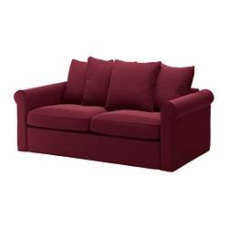 GRÖNLID - Sofa tempat tidur 2 dudukan, Ljungen merah tua