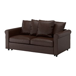 GRÖNLID - 2-seat sofa-bed, Kimstad dark brown