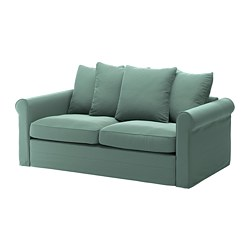 GRÖNLID - 2-seat sofa-bed, Ljungen light green