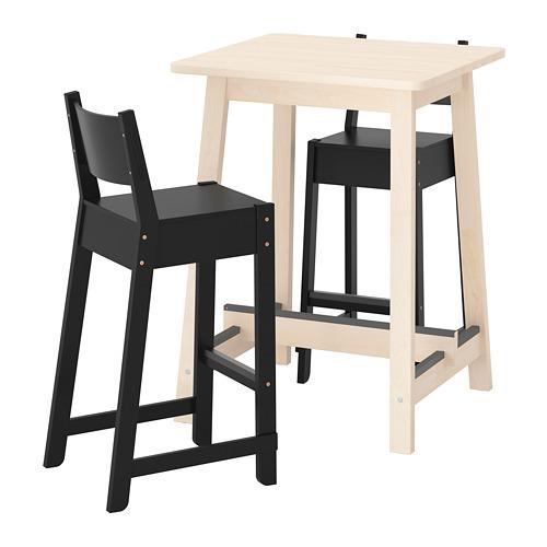 NORRÅKER/NORRÅKER meja bar dan 2 bangku bar