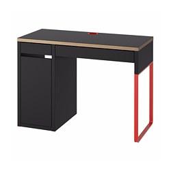MICKE - MICKE, meja, antrasit/merah, 105x50 cm