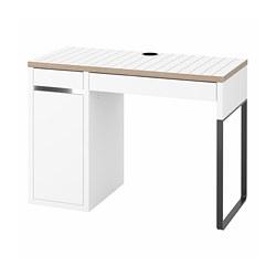 MICKE - MICKE, meja, putih/antrasit, 105x50 cm
