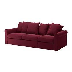 GRÖNLID - Sofa tempat tidur 3 dudukan, Ljungen merah tua