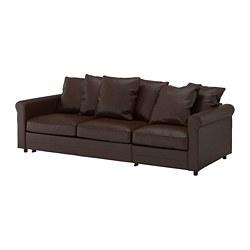 GRÖNLID - 3-seat sofa-bed, Kimstad dark brown