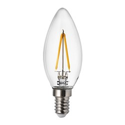 RYET - LED bulb E14 200 lumen, chandelier/clear