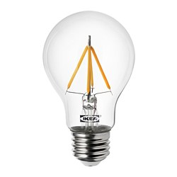 RYET - Bohlam LED E27 470 lumen, bulat bening
