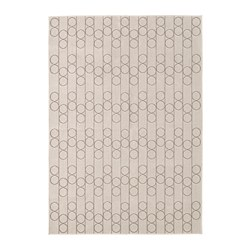 RINDSHOLM - Karpet, anyaman datar, krem
