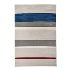 LILLEVORDE - Karpet, bulu tipis, abu-abu/aneka warna