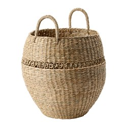 LUSTIGKURRE - Basket, natural seagrass