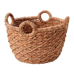 LUSTIGKURRE - Basket, brown/nipa palm
