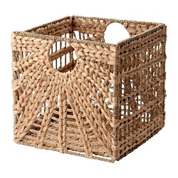 LUSTIGKURRE - Basket, natural water hyacinth/seagrass
