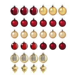 VINTER 2020 - Decoration bauble, set of 32, red/gold-colour