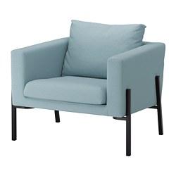 KOARP - Armchair, Orrsta light blue/black