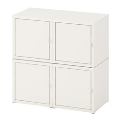 LIXHULT - Kombinasi kabinet dpasang di dnding, putih