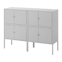 LIXHULT - Cabinet combination, grey
