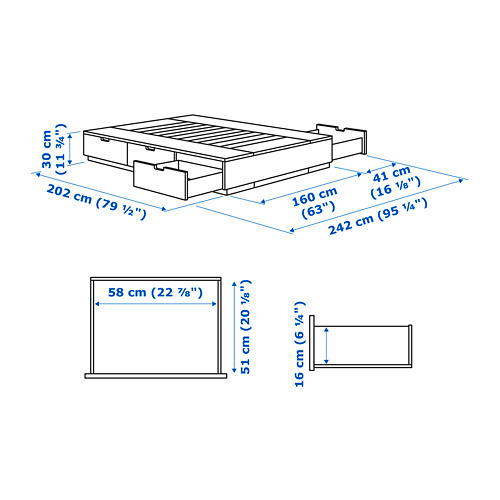 Nordli Bed Frame With Storage White Ikea Indonesia,Cheap Baby Shower Decorations Girl