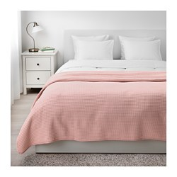 VÅRELD - Penutup tempat tidur , merah muda terang