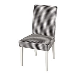 HENRIKSDAL - Chair, white/Vibberbo black/beige