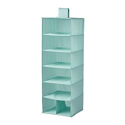 STUK - Storage with 7 compartments, light turquoise