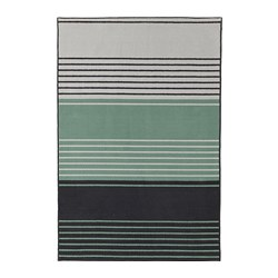 LUSTRUP - Rug, low pile, grey/multicolour