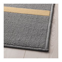 NÅRUP - Rug, low pile, grey/multicolour