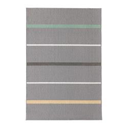 NÅRUP - Karpet, bulu tipis, abu-abu/aneka warna