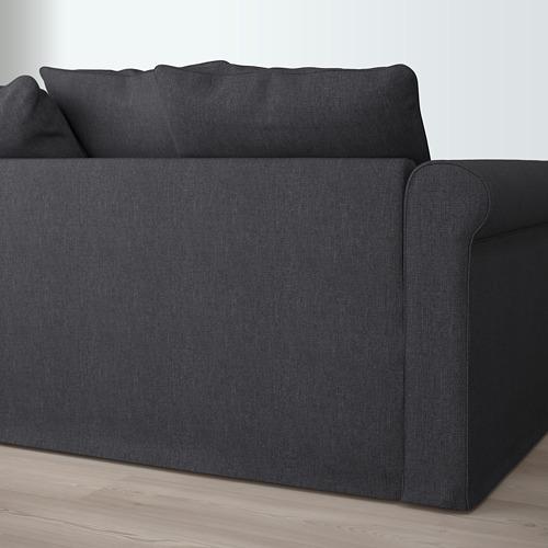 GRÖNLID - sofa bentuk u, 6 dudukan, dengan ujung terbuka/Sporda abu-abu tua   IKEA Indonesia - PE669597_S4
