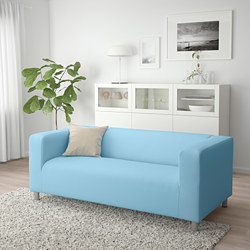 KLIPPAN - Sofa 2 dudukan, Vissle biru muda