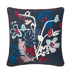 MÅLARBORSTE - Cushion cover, dark blue/multicolour