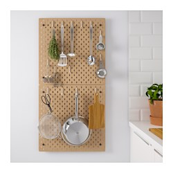 SKÅDIS - Pegboard combination, wood