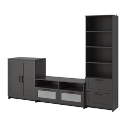 BRIMNES - TV storage combination, black