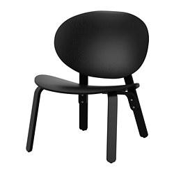 FRÖSET - FRÖSET, easy chair, black stained oak veneer