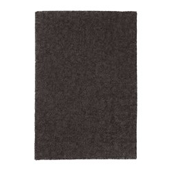 STOENSE - Rug, low pile, dark grey