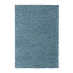 STOENSE - Karpet, bulu tipis, biru medium