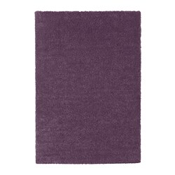 STOENSE - Karpet, bulu tipis, ungu