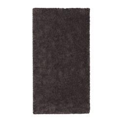 STOENSE - Karpet, bulu tipis, abu-abu tua