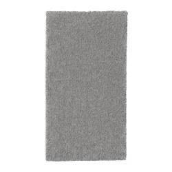 STOENSE - Karpet, bulu tipis, abu-abu medium