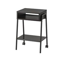 SETSKOG - SETSKOG, meja samping tempat tidur, hitam, 45x35 cm